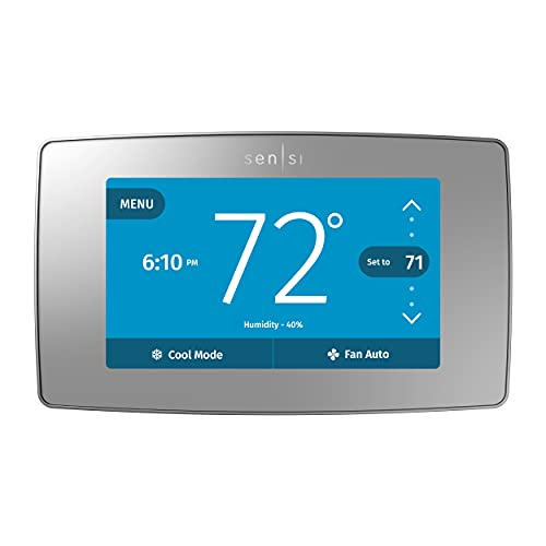 Emerson Thermostats ST75S Sensi Touch Wi-Fi Thermostat, Silver