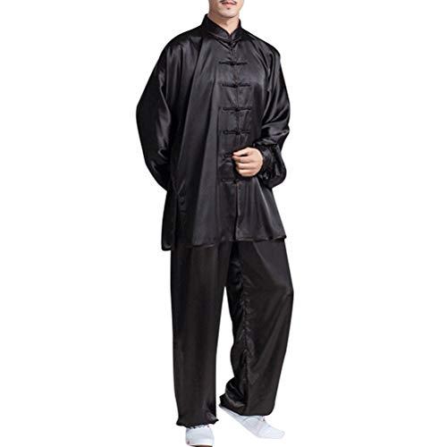 besbomig Clásico Unisexo Trajes Tang Kung fu Artes Marciales Conjuntos de Uniformes - Artes Marciales Tai Chi Ropa de Practica para Hombres Mujeres