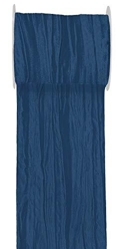 Unbekannt 15m Fripe TAFT 100mm Tischläufer Hellblau Blau Petrol Flieder Tischdeko Kommunion Konfirmation, Farbe:Dunkelblau