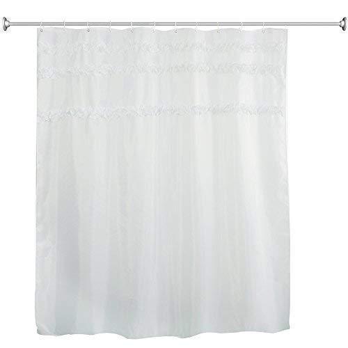 Dekorativer Duschvorhang mit aufgedruckten Spitzen-Applikationen, 12Haken zum Befestigen,...