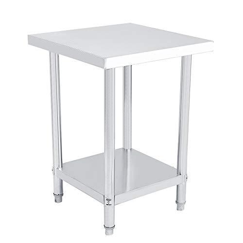 GOTOTOP keukentafel van roestvrij staal werkblad werkbank keukentafel 0,6 mm