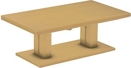 Brasilmöbel Couchtisch Rio UNO 140x80 cm Sand Wohnzimmertisch Holz Säulentisch Pinie Massivholz Stubentisch Beistelltisch Größe und Farbe wählbar