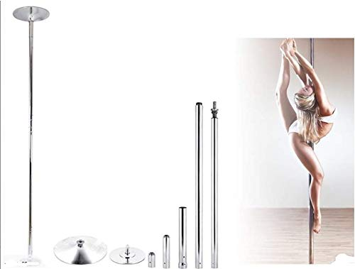 JIUZHOUTONG 45mm Dancing Pole Kit Removable Portable Dance Sport Exercise Club Fitness 9ft
