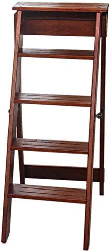 GBX Fácil y cómodo taburete plegable Paso, de madera maciza Silla plegable Escalera Escalera Silla