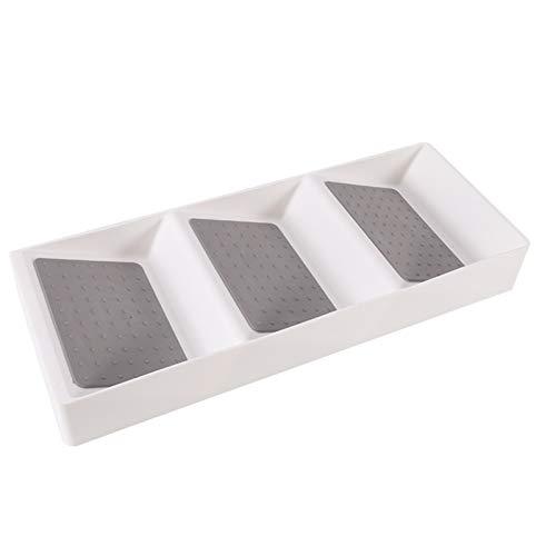 SCAYK Cubiertos de plástico gaveta de Almacenamiento Bandeja Estante de Especia Organizador de cajones Cajones de la Cabina 3 Niveles de Cocina Inclinada Estante de Especia Caja del cajón