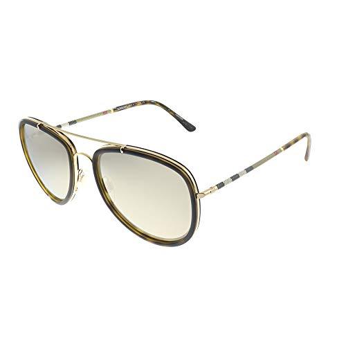 Burberry 0Be3090Q 10525A 58 Gafas de sol, Dorado (Havana/Brown Dark), Hombre