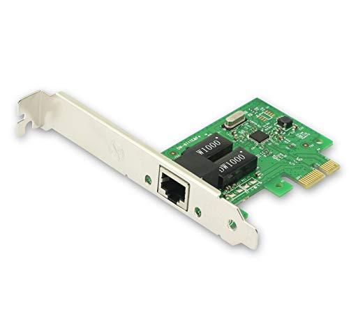 CERRXIAN RT8111F PCIe1x 1000M Scheda LAN, Gigabit Ethernet PCI Express PCI-E scheda di rete RJ45 LAN Adapter Converter per PC desktop