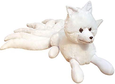 Nanshu Nine-Tailed White Fox Stuffed Phoenix Mall Plush Doll Animals Limited price Toys