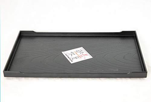 10' Japanese Rectangular Black Plastic Humidity Tray for Bonsai & House Plants