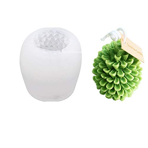 TEQIN 3D Christmas Tree Pine Cone Silicone Candle Mold Soap Clay Making Diy Cake Decoration Xmas Party sx-sd-48