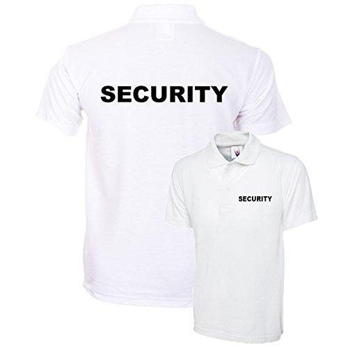 bestellen uniform uk Veiligheid Wit Poloshirt Gedrukt Werkkleding Bouncer Bar Club XS-4XL