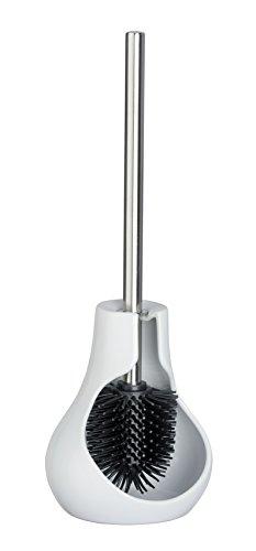 WENKO 23361100 Keramik WC-Garnitur Drop Neo weiß - WC-Bürstenhalter, Keramik, 14 x 40 x 13,5 cm, weiß