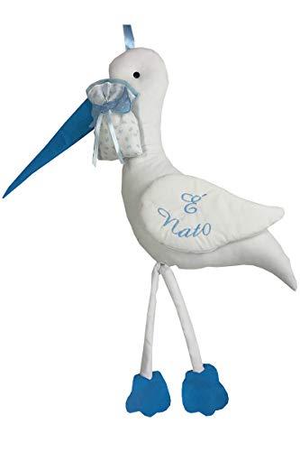 Fiocco Nascita Azzurro Coccarda Cicogna Gigante(maxi)