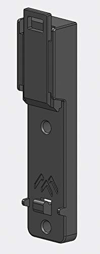 apra norm Hutschienenhalteklammer/Tragschienenadapter 18mm breit (2 x Durchgangsloch mit D=3,8mm), 1 Set = 10 Stück