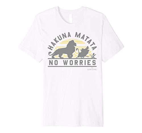 Disney The Lion King Hakuna Matata Geometric Sun Silhouette Premium T-Shirt
