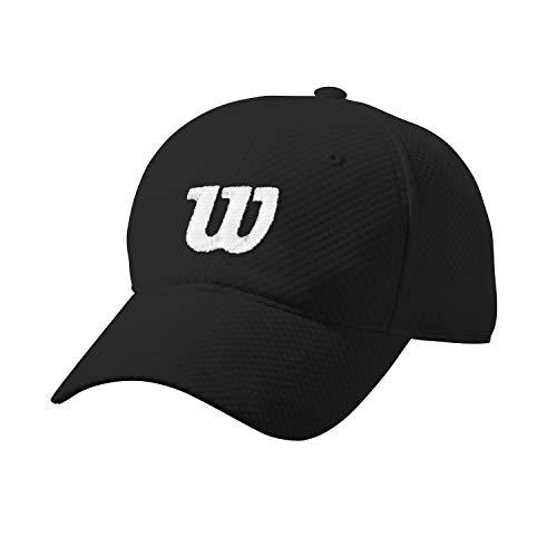 Wilson Sommerkappe, Verstellbar, 100 Prozent Mesh-Polyester, Einheitsgröße, schwarz/weiß, WRA770803