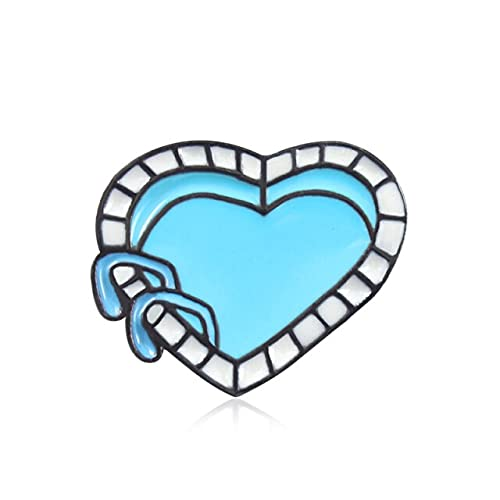 GOY Broche de esmalte de corazón Pin de solapa Rainbow Sisters abrazar esqueleto ataúd piscina feminismo moda creativo insignia