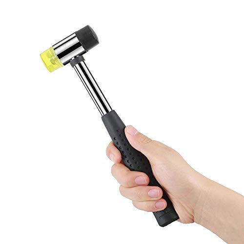 New Rubber Mallet Hammer 25mm Nonslip Grip Dual Mini Rubber And Nylon Head Face NORTHTIGER
