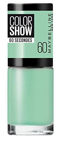 Maybelline ColorShow nagellak, nr. 60 Roof Terrace, brengt de looptrends uit New York op de nagels, in licht turquoise, 7 ml