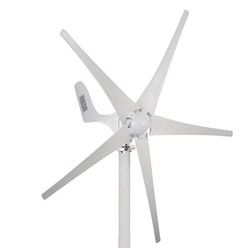 Moracle Generador de Turbina de Viento 500W 12V 5 Hojas Baja Velocidad del Viento DC Jardín Luces de Calle Turbina de Ciento con Controlador de Carga 12V Turbina de Viento (500W 12V)