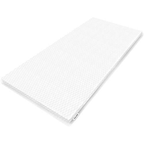 Siebenschläfer viskoelastische Matratzenauflage (90x200x5cm) - Topper aus Memory Foam - Geeignet für Boxspring- und Normale Betten - Matratzentopper in 90x200cm und 5cm Höhe