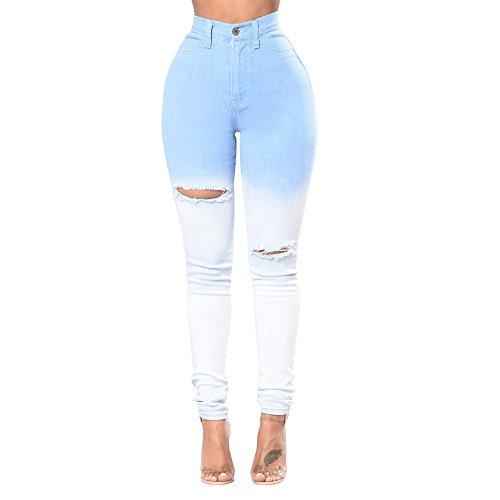 CESSBO Jeans Vita Alta Donna Skinny Denim Pantaloni Slim Fit Legging Elasticizzati (XXL)