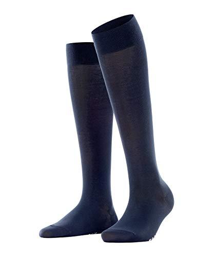 FALKE Damen Kniestrümpfe Cotton Touch - Baumwollmischung, 1 Paar, Blau (Dark Navy 6379), Größe: 39-42