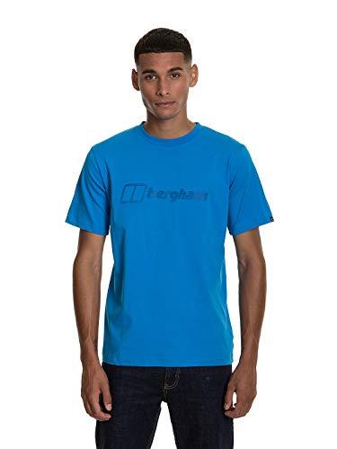 Berghaus T-Shirt à Logo Moderne pour Homme Bleu Brillant Taille S