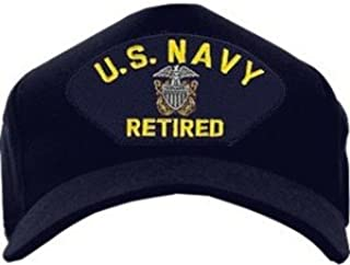 U.S. Navy Retired with Officer Crest Ball Cap