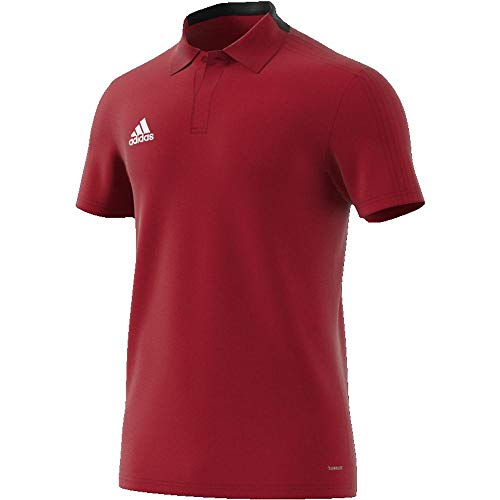 adidas Condivo 18 Cotton Polo Homme Power Red/Black/White FR: S (Taille Fabricant: S)