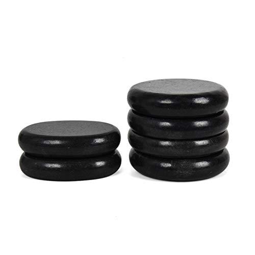 June Fox Hot Stones Massage Set, 6 Pack Basalt Stones for Home Spa