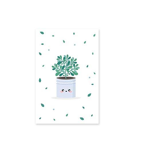 ANDD Película De La Ventana Clever Grass Cactus Potted Fresh Plant Window Film Opaco PVC Frosted Glass Etiqueta Decorativa Etiqueta De La Ventana, A