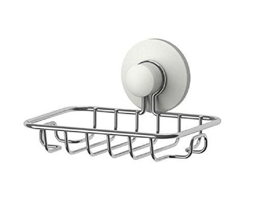 Ikea IMMELN Seifenschale Seifenschale, Super Leistungsstark Vakuum Saugnapf–stabile Edelstahl Schwamm Halter Bad und Küche (Stahl, verzinkt)
