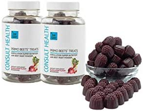 Consult Health Primo Beets Treats Duo Circulation Super Nutrition with Beet Root Powder Black product image
