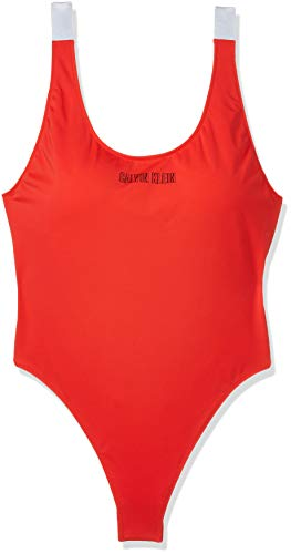 Calvin Klein Damen Scoop ONE Piece-RP Bikini-Set, Rot (Fiery Red XA7), 38 (Herstellergröße:M)