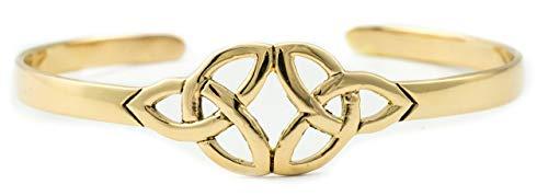 Windalf Vintage Kelten Armreif Kiana Ø 6.2 cm Celtic Trinität Dreiheit Keltischer Knoten Kelten Bronzearmschmuck Elfenschmuck Hochwertige Bronze