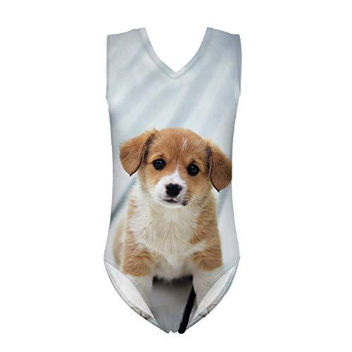 POLERO Mädchen Badebekleidung Badeanzug Süße Hunde Muster