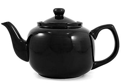 Black Classic 6 Cup Ceramic Teapot
