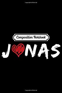 Composition Notebook: Jonas Fisrt Cool Given Name For Baby Brothers  Journal/Notebook Blank Lined Ruled 6x9 100 Pages