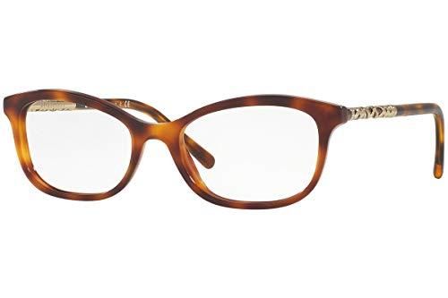 BURBERRY BE2231 Brillen 52-18-140 Light Havana Braun Mit Demonstrationsgläsern 3316 BE 2231