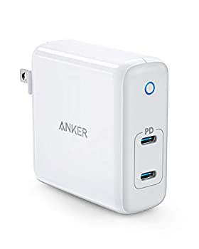 USB C Charger Anker 60W 2-Port PowerPort Atom PD [GAN Tech] Foldable Wall Charger Power Delivery for MacBook Pro/Air iPad Pro iPhone 12/11 / Pro/Ma x/XR/XS/X Pixel Galaxy and More
