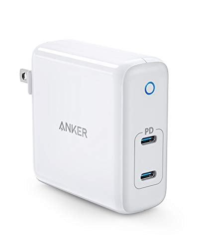 Anker 60W 2-Port USB C Charger, PowerPort Atom PD 2 [GAN Tech] Compact Foldable Wall Charger, Power Delivery for MacBook Pro/Air, iPad Pro, iPhone 11 / Pro/Max/XR/XS/X, Pixel, Galaxy, and More