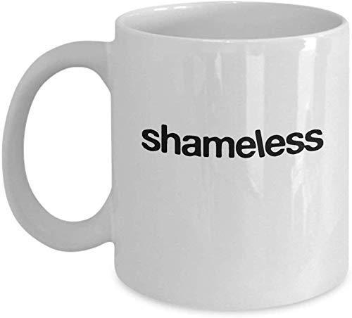 Shameless Tv Series Logo Coffee Mug Cup (White) 11oz Shameless Tv Show Series Sitcom Quote Gift Merchandise Accessories Decal Decor Sticker Pin Shirt