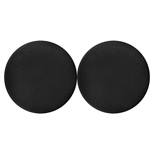 FOMIYES 2 fundas para taburete de bar, impermeable, de piel sintética, color negro, redondo, elástico, lavable, para bar, oficina, 30 cm