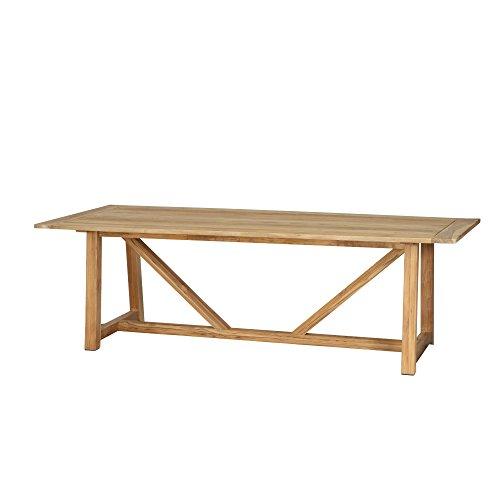 Siena Garden Dining Tisch Almada, 240x100x74cm, Gestell: Teakholz, in natur, Tischplatte: Teakholz, FSC 100%