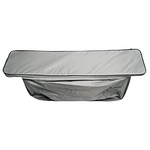 vincente Bolsa de almacenamiento para asiento de barco con cojín acolchado – Compartimento de almacenamiento para canoa, barco de asalto – Resistente al agua y al polvo – Bolsa organizadora con correa