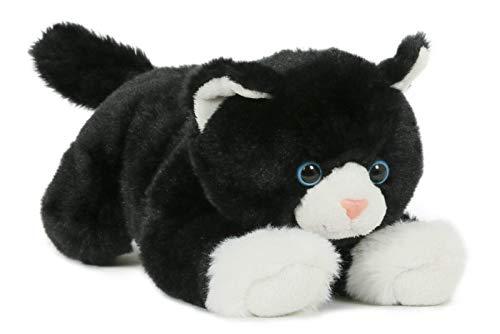 Unbekannt Stofftier Katze 28 cm, schwarz-weiß, Kuscheltiere Plüschtiere Katzen Kätzchen Kater Haustiere Tiere