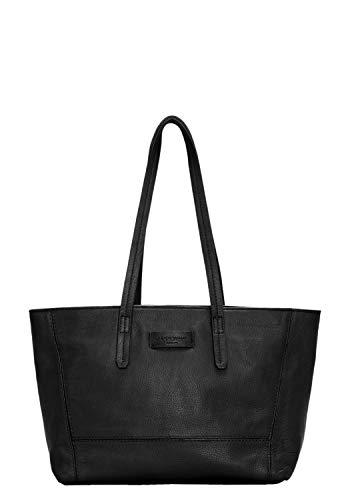 Liebeskind Berlin Damen Essential Shopper Medium Schultertasche, Schwarz (Black), 28x22.5x11.5 cm (B x H x T)