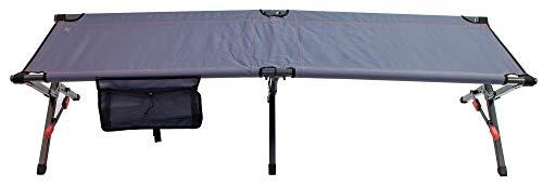 Rio Brands Gear Smart Cot Extra Long Outdoor No End Bar Portable Camping Cot - Slate