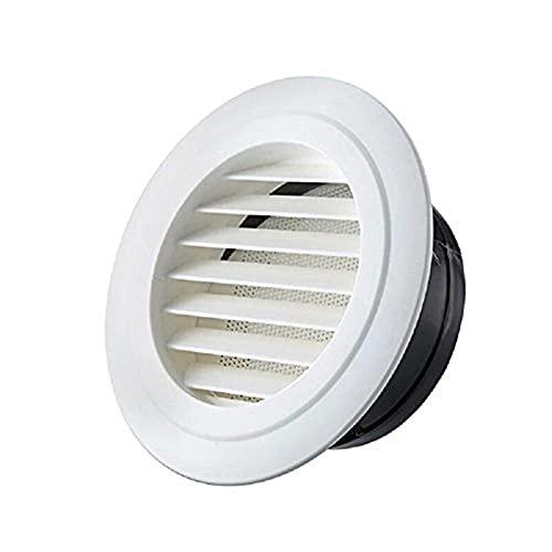 SZBLYY Rejilla ventilacion Exterior Pared Air Vent Grille Plástico Aire Redondo Extractor Ventilación Rejilla Conducción Ventilación Parrilla Interior Outlet 75/100 / 125 / 150mm